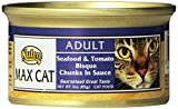 nutro max cat food - Nutro MAX CAT Adult Seafood and Tomato Bisque Formula Chunks in Sauce Canned Cat Food (Pack of 24)