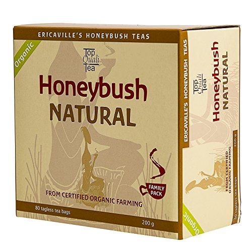 Honeybush Tea Bag Organic   Natural Herbal South African Tea   80 Tagless Teabags   250g USDA Organic, Fairtrade, Non-GMO Tea   Rich in Antioxidants, Caffeine Free, Gluten Free by TopQualiTea
