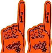 Astek 18 Inch We're Number 1 Finger Team Color Cheerleading Foam Hand Pompom for Sp