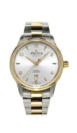 alpina alpiner automatic steel gold tone mens watch silver dial alpina alpiner automatic steel gold tone mens watch silver dial calendar al 525s4e3b