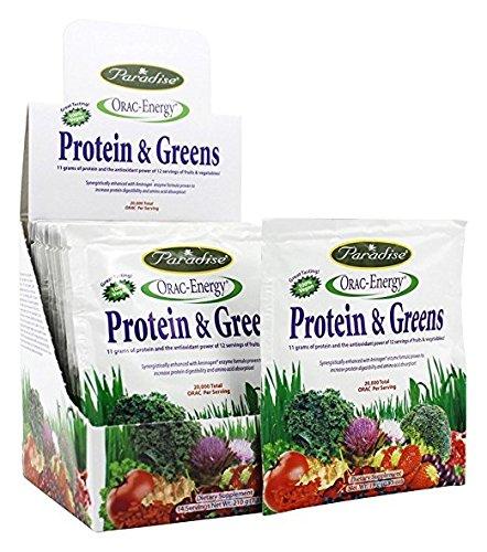Paradise Herbs Orac Energy Protein & Greens Chocolate Bar, 12 Count