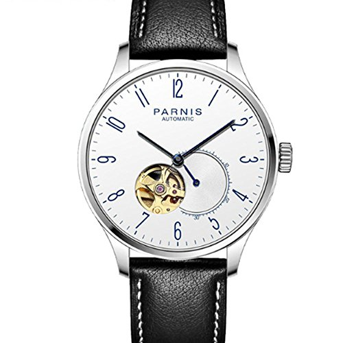 Parnis 42MM White Dial Black PVD Coated Case Tourbillon MIYOTA Automatic Movement Men's Watch (Model-2)