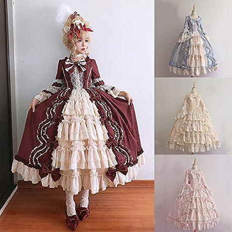 Amazon.com: Vestido de princesa para mujer, de Lolita, para ...