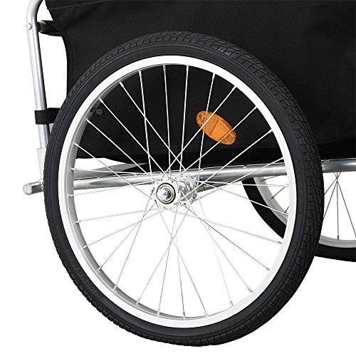 Yaheetech Garden Bike Bicycle Cargo Luggage Trailer-Yellow/Black by Yaheetech (Image #6)