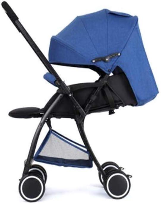 ベビーカーは、超軽量ポータブル折りたたみ簡単なミニ幼児の赤ん坊の傘をリクライニング座ることができる双方向