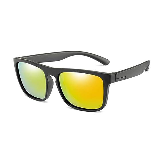 Wang-RX Gafas cuadradas para niños Gafas de sol polarizadas ...