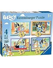 """Ravensburger Bluey - 4"""" doos (12, 16, 20, 24 stuks) legpuzzels voor kinderen vanaf 3 jaar"""
