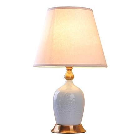 KUN PENG SHOP Lámpara de Mesa pequeña de cerámica Dormitorio ...