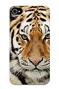 Durable Case For The Iphone 4/4s - Eco-friendly Retail Packaging(big Cats Tiger Snout Glance Animals )
