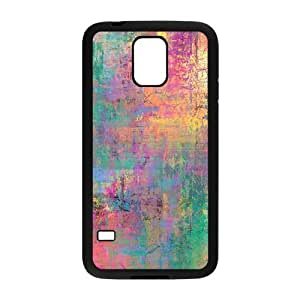 Samsung Galaxy S5 Case, Abstract Watercolor Hard Case For Samsung Galaxy S5(Black) Yearinspace059588