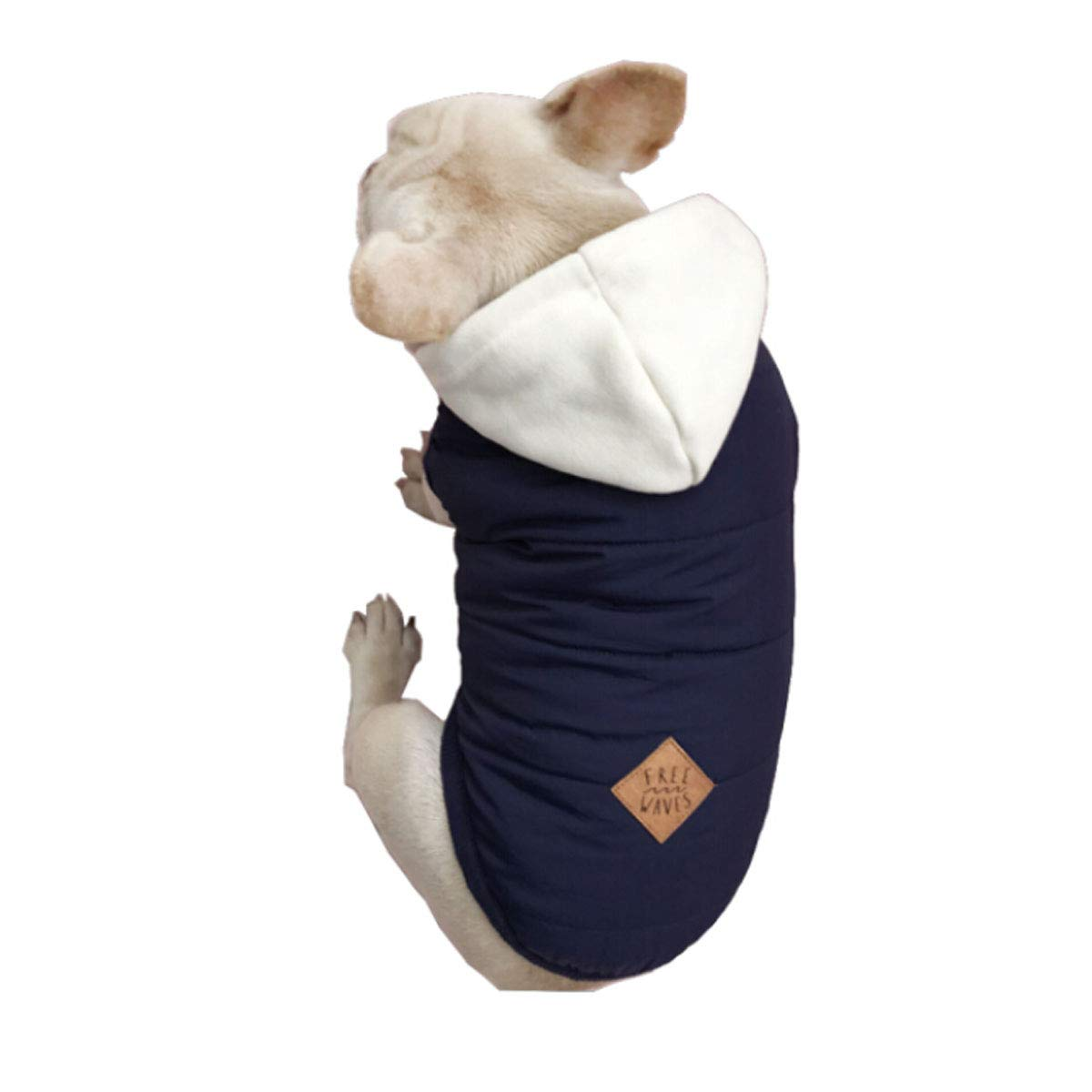 bluee XL bluee XL Huijunwenti Autumn and Winter New, Pet Clothes, Puppy Cotton Vest, Law Warm Clothing, Teddy Dog, Dog Cotton Vest, Tide Dark bluee S Fashion (color   bluee, Size   XL)