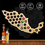 Creative Wooden Craft Beer Cap Maps Of Mexico Wall Mounted Decorative Mexican Maps Beer Caps Collection Gadgets