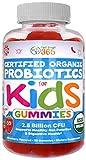 USDA Organic Kids 2.5 Billion CFU Probiotic Pectin Gummies (30 Day) by Feel Great 365  Clinically Proven Probiotic B. Subtilis DE111  Supports Gut, Regularity & Immune Health*   Strawberry Flavor