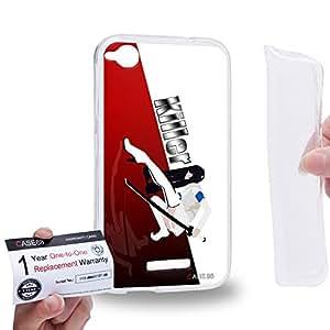 Case88 [HTC Desire 320] Gel TPU Carcasa/Funda & Tarjeta de garantía - Art Design The Killer Personalities Red Art2164