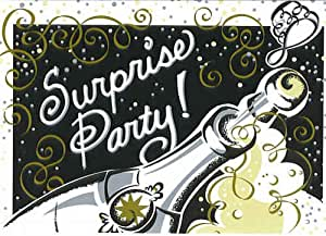 8 Bubbly Surprise Party! Invitations with Envelopes
