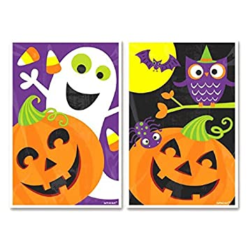Family Friendly Halloween Treat Bags Party Favour, Plastic, 6