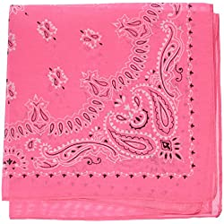 """Rhode Island Novelty 19"""" Neon Pink Bandana (1 Dozen)"""