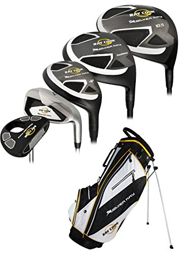 Ray Cook Golf Men's PVD Finish Silver Ray Complete Set Bag, Left ()