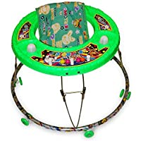 Akshat Baby's Walker Cum Rocker with Wheel Support (Green)