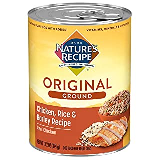 Nature's Recipe Easy to Digest Wet Dog Food, Chicken, Rice & Barley Recipe, 13.2 Ounce Can (Pack of 12)