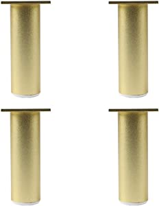 GFF (4 Packs) Aluminum Furniture Metal Support feet Adjustable Cabinet feet Adjustable 1-12mm Golden Sofa feet with self-Tapping Screws