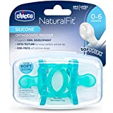 Chicco NaturalFit Pacifier Blue Soft Silicone 0-6M (2 pcs)