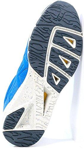 Onitsuka Tiger Shaw Runner Azul Blanco Suede Hombres Formadores Zapatos Botas