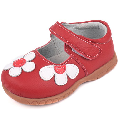 Femizee Fashion Leather Flats Shoes Mary Jane Shoes for Toddler Girls,Red,1529 CN28