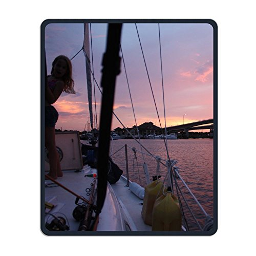 Summer Moon Fire Non-Slip Rubber Comfortable Mouse Pads Daytona Beach Mouse Mat Personality Desings Gaming Mouse Pad Style 11.8 ¡Á 9.8 Inches