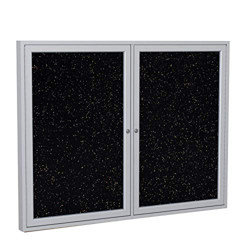 Ghent Enclosed Recycled Rubber Tackboard - 60X36