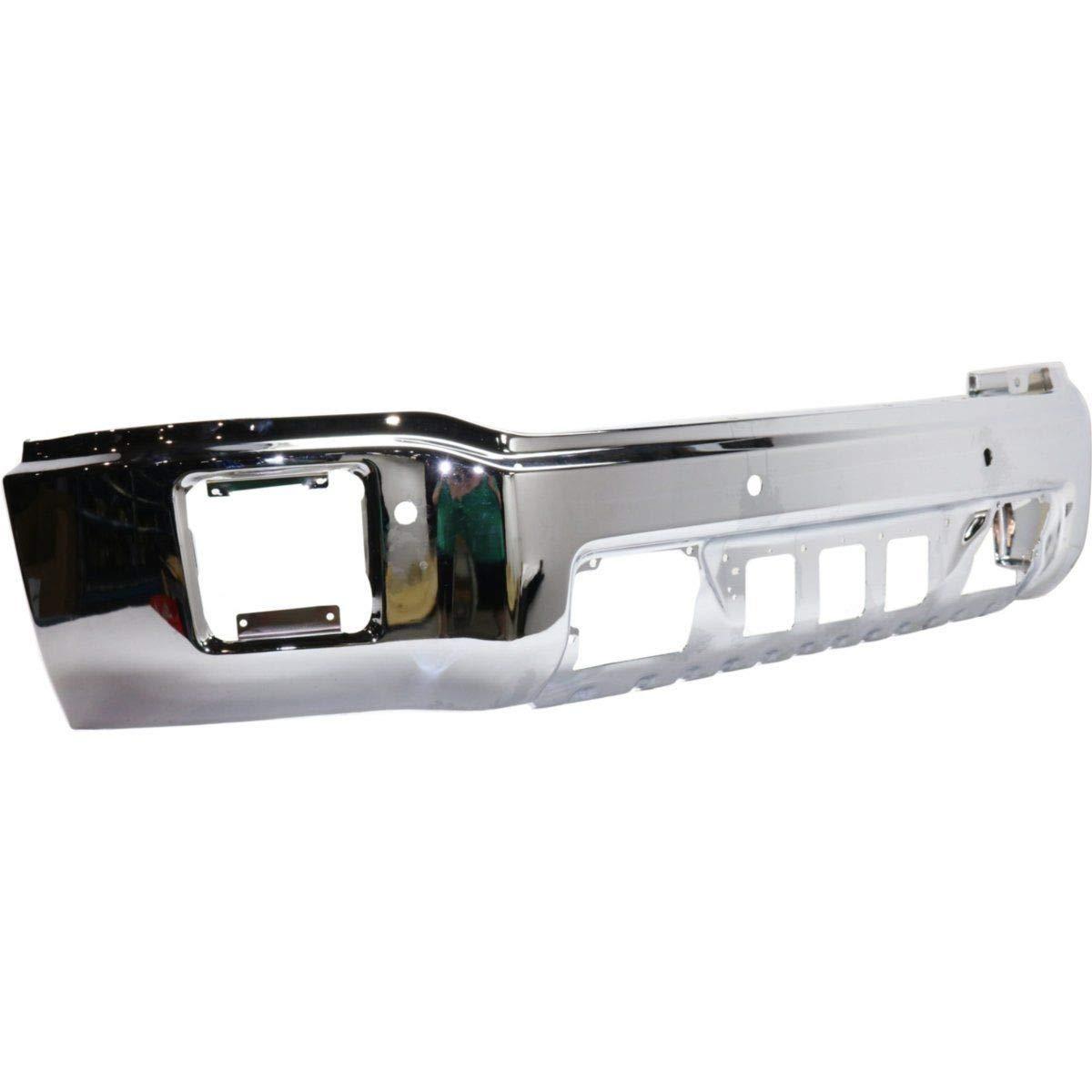 GM1002847 Steel Front Bumper Face Bar for 2014-2015 GMC Sierra 1500 Series w//Park Assist 14-15 MBI AUTO Chrome