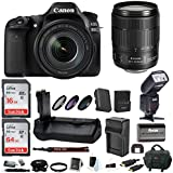 Canon EOS 80D Digital Camera: 24 Megapixel 1080p HD Video DSLR Bundle with 18-135mm USM Lens 80GB Battery Grip TTL Flash Filters Travel Charger and More - Professional Vlogging Sports & Action Camera
