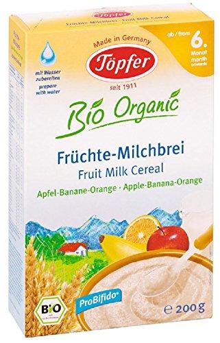 Cerámica orgánica budín de frutas leche, manzana-plátano-naranja, 200g: Amazon.es: Alimentación y bebidas