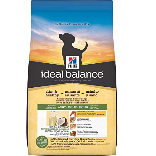 Hill's Ideal Balance Adult Slim & Healthy Natural Chicken & Barley Recipe Dry Dog Food, 21-Pound Bag