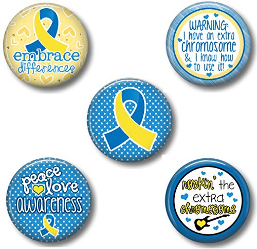 Down Syndrome Awareness Ribbon Magnets: Cute Fridge Office and School Magnets (Down Syndrome)