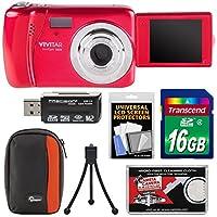 Vivitar ViviCam VXX14 Selfie Digital Camera with 16GB Card + Case + Tripod + Reader + Kit
