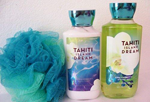 Bath & Body Works - Signature Collection - Tahiti Island Dream - Body Lotion 8 Fl Oz - Shower Gel 10 Fl Oz & Shower (Tahiti Collection)