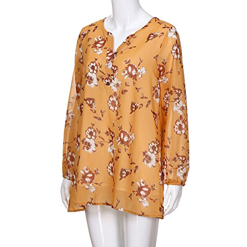 Halter Button Dress Women's Floral Summer Mini Flowy Chanyuhui Casual Long Yellow Down Sleeve Neck w1a6Tqqx