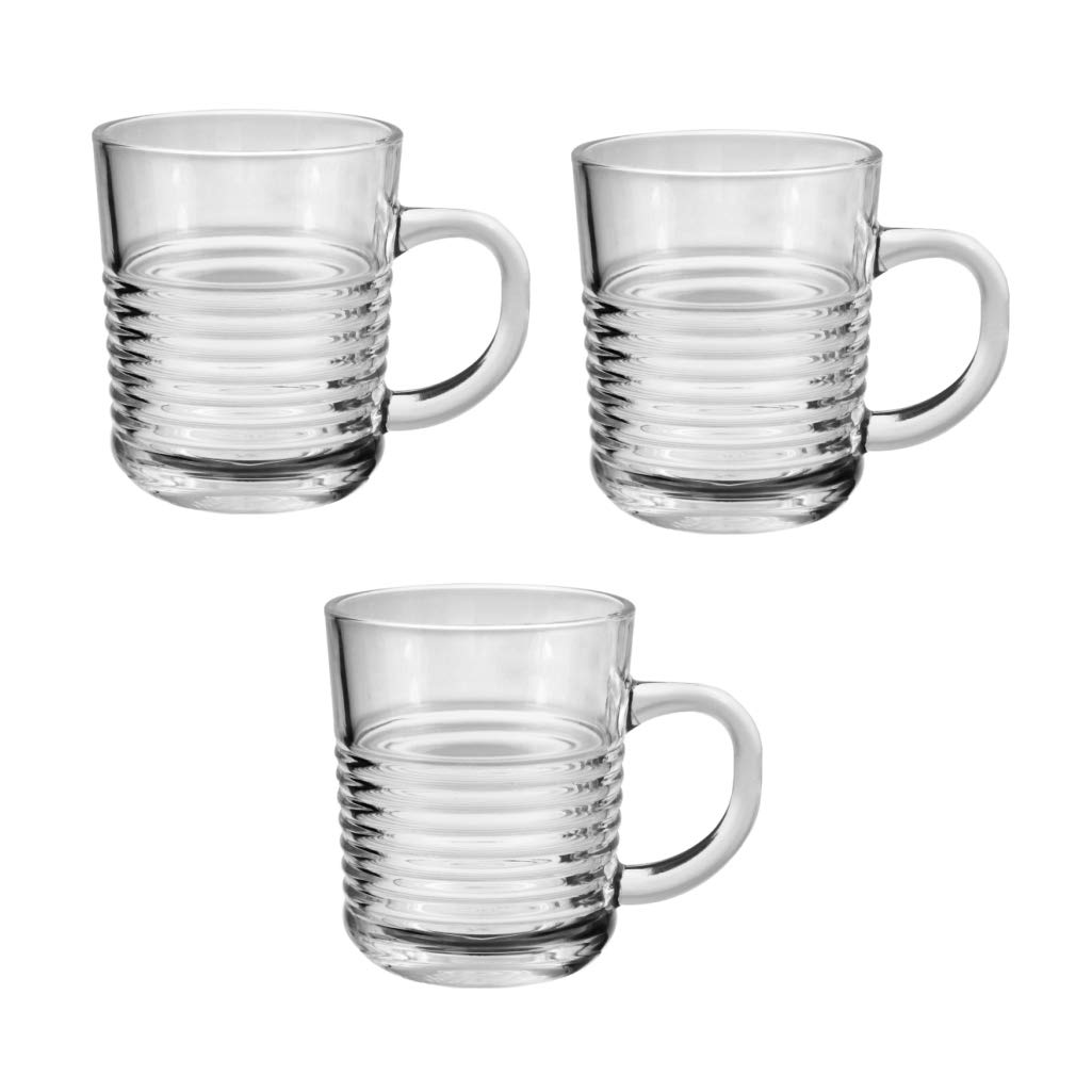 Buy Blinkmax By Treo Deco Mug 224ml Set Of 3 Transparent Online