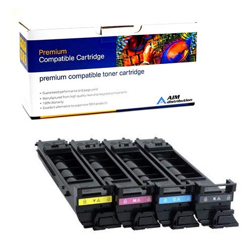 AIM Compatible Replacement for Konica Minolta Magicolor 5550/5670 Toner Cartridge Combo Pack (BK/C/M/Y) (A06V3BCMY) - Generic
