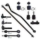 ECCPP Front Ball Joint Tie Rod Ends Sway Bar Link Suspension Kit for 1997-2006 Jeep TJ/Wrangler 4WD (12Pcs)