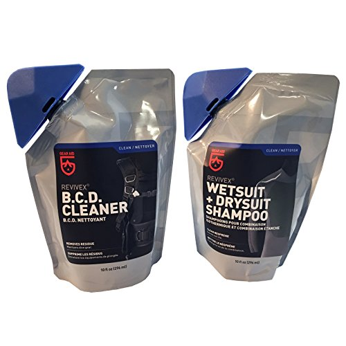 McNett M Essentials Wetsuit Drysuit Shampoo and BC Life BCD Cleaner Conditioner