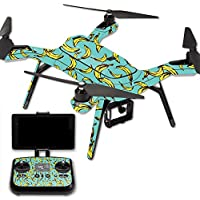 MightySkins Protective Vinyl Skin Decal for 3DR Solo Drone Quadcopter wrap cover sticker skins Bananas