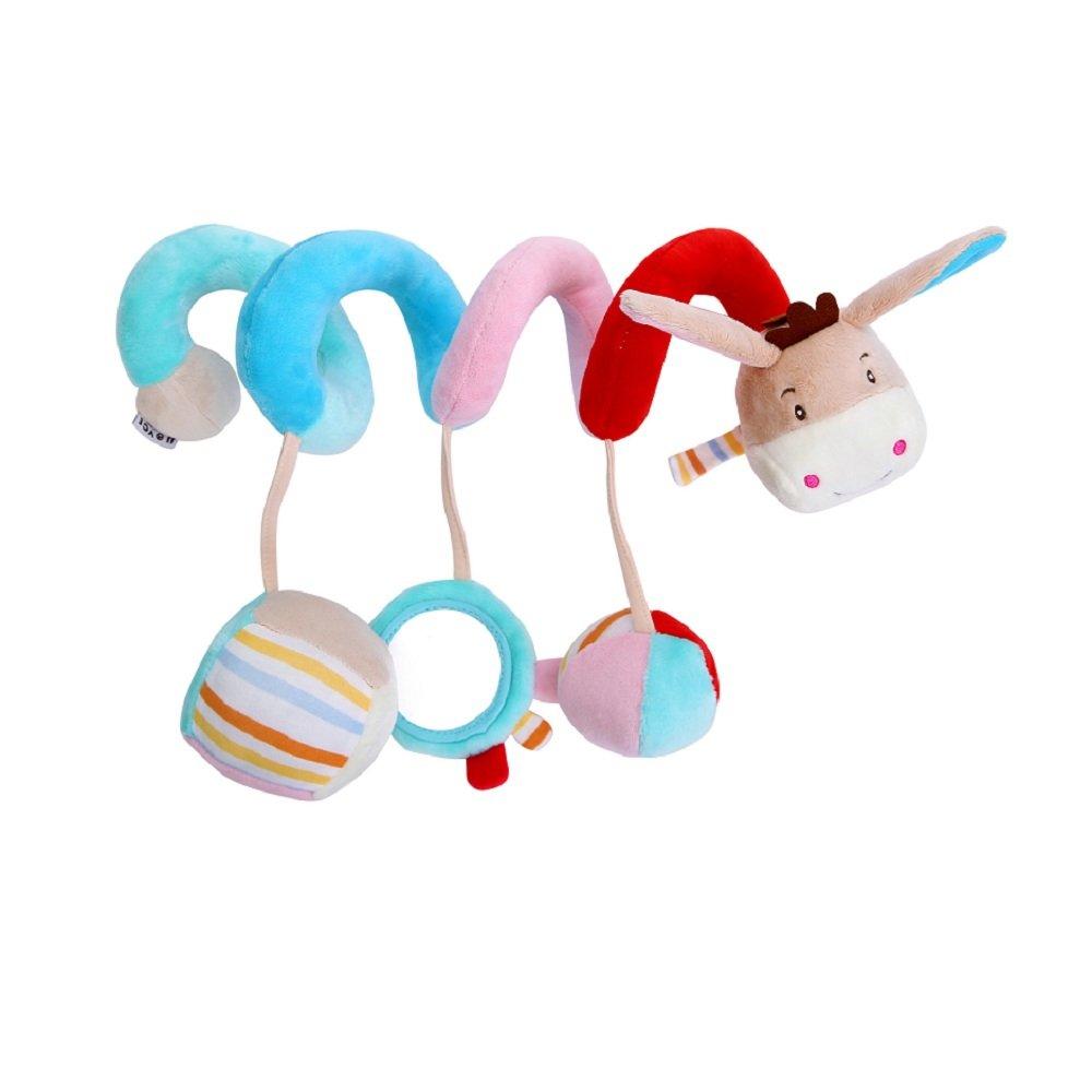 Juguete Colgantes Espiral del Animales para Cochecito,Cama Cuna a Bebe,GZQES,Juguetes para Beb/és y Primera Infancia,Colgantes para Cochecitos con Multicolor. Gato