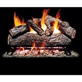 Cheap Peterson Real Fyre 18-inch Southern Oak Log Set With Vented Burner (Natural Gas Only)