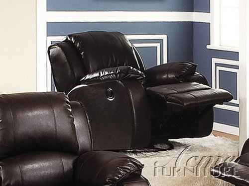 Overstuffed Brown Leather Theater Style Motion (Brown Leather Motion Home Theater)