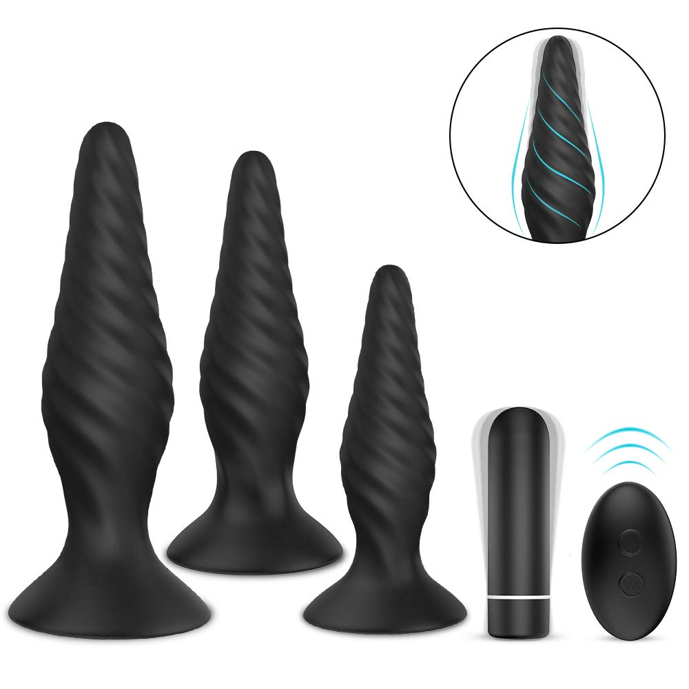 Butt Plug Training Set Anal Plugs Vibrator Trainer Kit Prostate Massager Sex Toys for Beginners Advanced by HLR