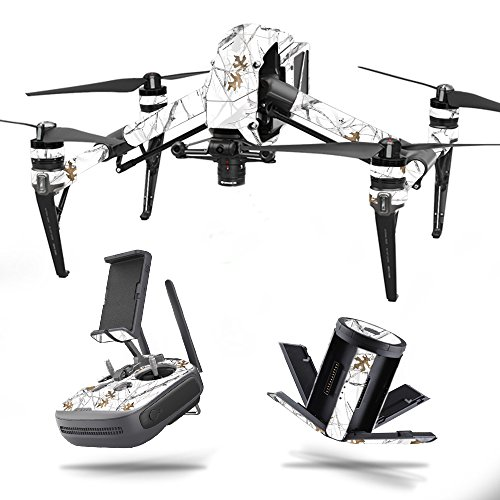 MightySkins Skin for DJI Inspire 2 - Conceal Snow | Protective, Durable, and Unique Vinyl Decal wrap Cover | Easy to Apply, Remove, and Change Styles | Made in The USA