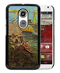 Vincent van Gogh oil painting 9 Black Moto X 2nd Generation Screen Phone Case Nice and Genuine Design