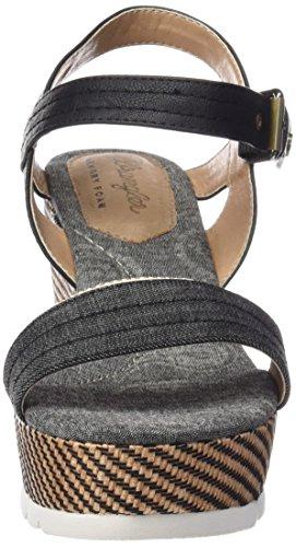 Wrangler Indigo Jeena, Women's Wedge Heel Platform Sandals Black - Schwarz (62 Black)